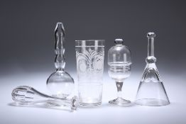 A GROUP OF 19th CENTURY GLASS VESSELS
