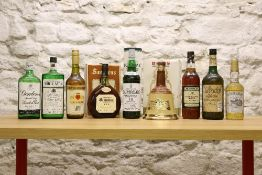 9 BOTTLES MIXED LOT ASSORTED SPIRITS (including Malt Whisky, Rum, Gin and Calvados)