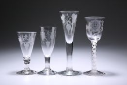 FOUR ALE OR WINE GLASSES