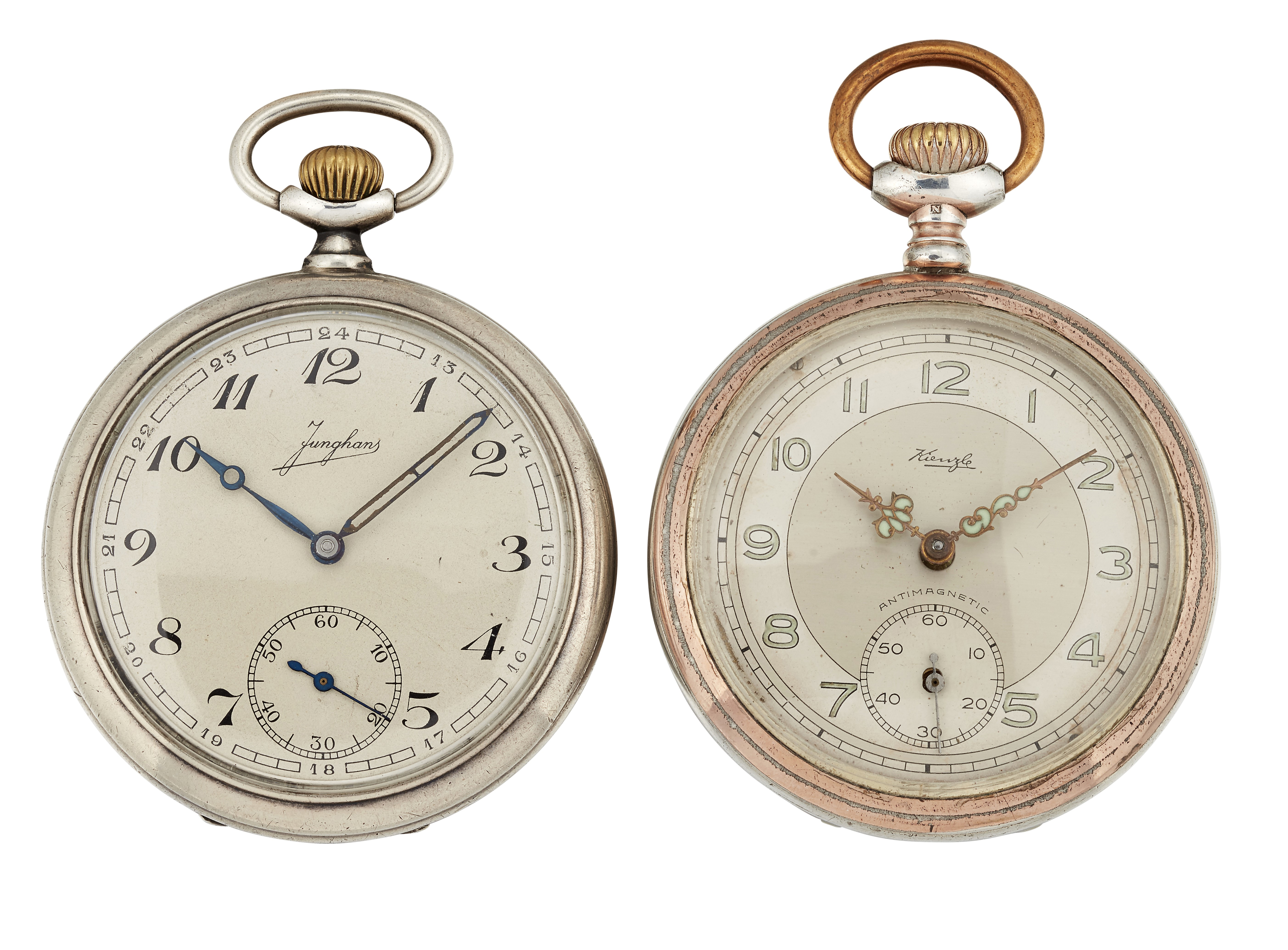 Lot 345 - A JUNGHANS AND A KIENZLE POCKET WATCH
