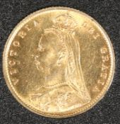 AN 1887 VICTORIA JUBILEE HALF SOVEREIGN.