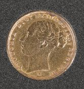 AN 1885 FULL SOVEREIGN, Melbourne Mint.