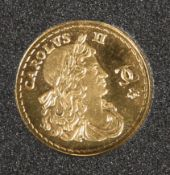 "A POBJOY GOLD PROOF MEDALLION, ""H.M.S. ROYAL SOVEREIGN"", minted in 9 carat gold to half sovereign"