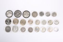 A COLLECTION TWENTY-THREE AMERICAN SILVER COINS. (23)The absence of a Condition Report does not