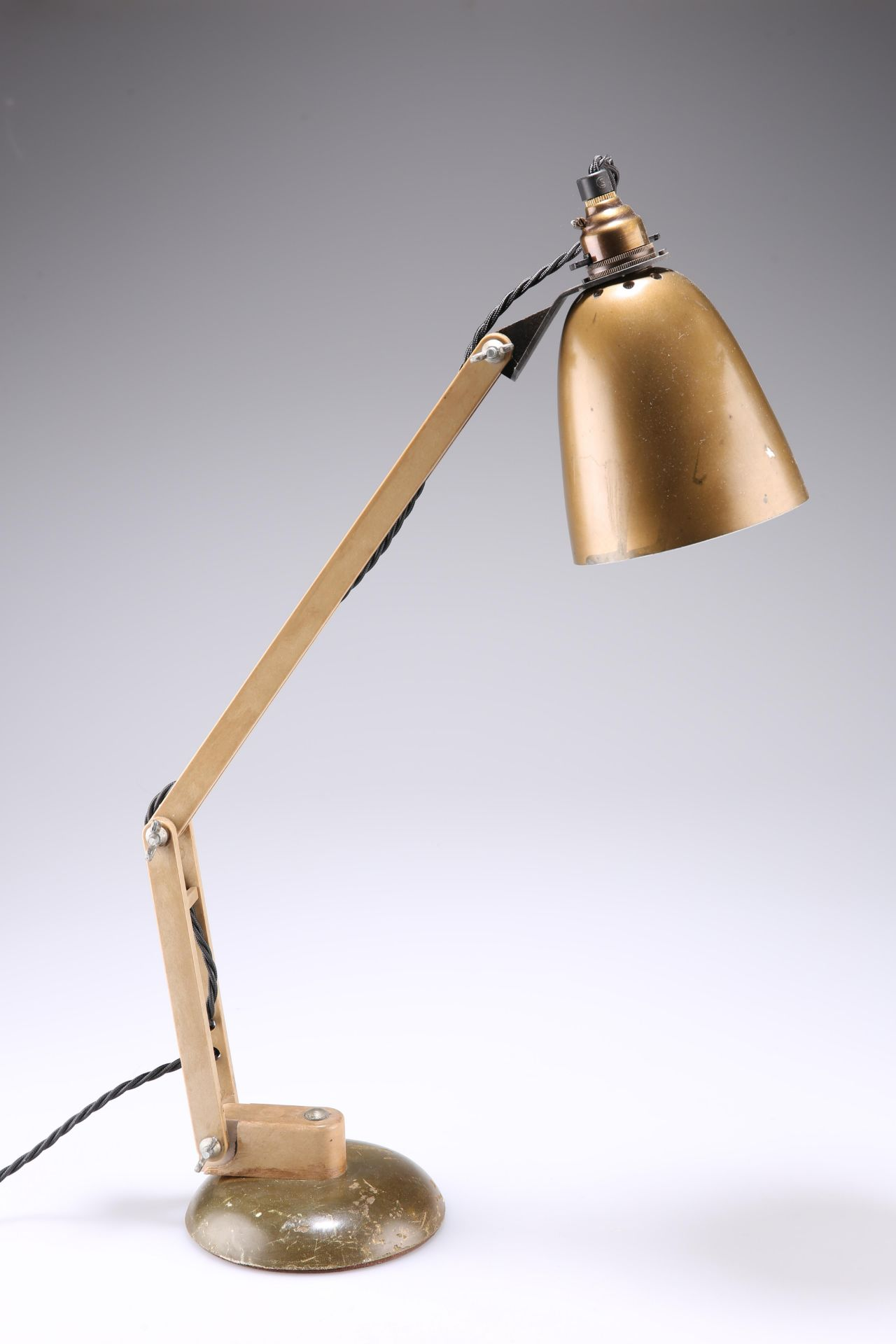 SIR TERENCE CONRAN (1931-2020), FOR HABITAT, MAC LAMP, CIRCA 1960s, anglepoise desk lamp with bronze