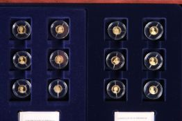 "A TWELVE COIN GOLD PROOF SET, ""THE QUEEN'S DIAMOND JUBILEE"", the complete collection under"