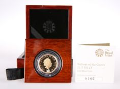 "A ROYAL MINT ""NATIONS OF THE CROWN"" 2017 PROOF ONE POUND COIN, no. 0585, boxed with certificate."