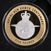 "A GUERNSEY LIMITED EDITION FIVE POUND GOLD PROOF COIN, ""CELEBRATING 100 YEARS OF THE ROYAL AIR"