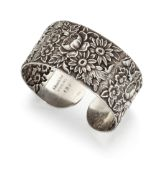 A SILVER BANGLE BY S KIRK & SON,