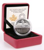 "A ROYAL CANADIAN MINT 2018 $20 FINE SILVER COIN, ""A NATION'S METTLE, THE DIEPPE RAID"", boxed with"