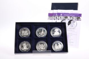 """A SIX COIN SILVER PROOF SET, """"EIGHTIETH BIRTHDAY OF HER MAJESTY QUEEN ELIZABETH II"""", boxed with"""
