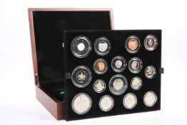 A ROYAL MINT 2013 PREMIUM PROOF COIN SET, the fifteen coins boxed with COA no. 3312 and papers