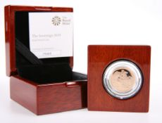 A GOLD PROOF FULL SOVEREIGN, 2019, in Royal Mint box with COA no. 7583