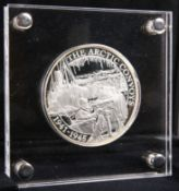 A BATTLE OF ATLANTIC ARCTIC CONVOYS 5OZ SILVER TEN POUNDS PROOF COIN, boxed with COA and papers