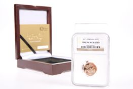 "A ROYAL MINT LIMITED EDITION CELEBRATION UNCIRCULATED FULL SOVEREIGN, ""THE ROYAL BIRTH"", boxed"