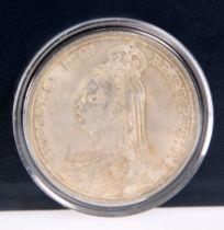 AN 1887 VICTORIA CROWN