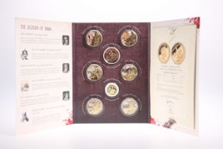 A LONDON MINT 1066 BATTLE OF HASTINGS EIGHT COIN SET, including The Battle of Hastings 950th
