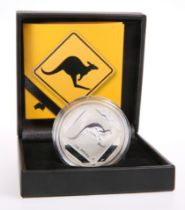 """A ROYAL AUSTRALIAN MINT 2013 $1 SILVER FROSTED UNCIRCULATED COIN, """"AUSTRALIAN ROAD SIGN SERIES"""","""