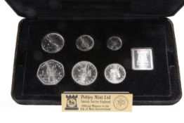 A POBJOY MINT ISLE OF MAN QUEEN ELIZABETH II 1978 LIMITED EDITION LEGAL TENDER COIN SET, boxed