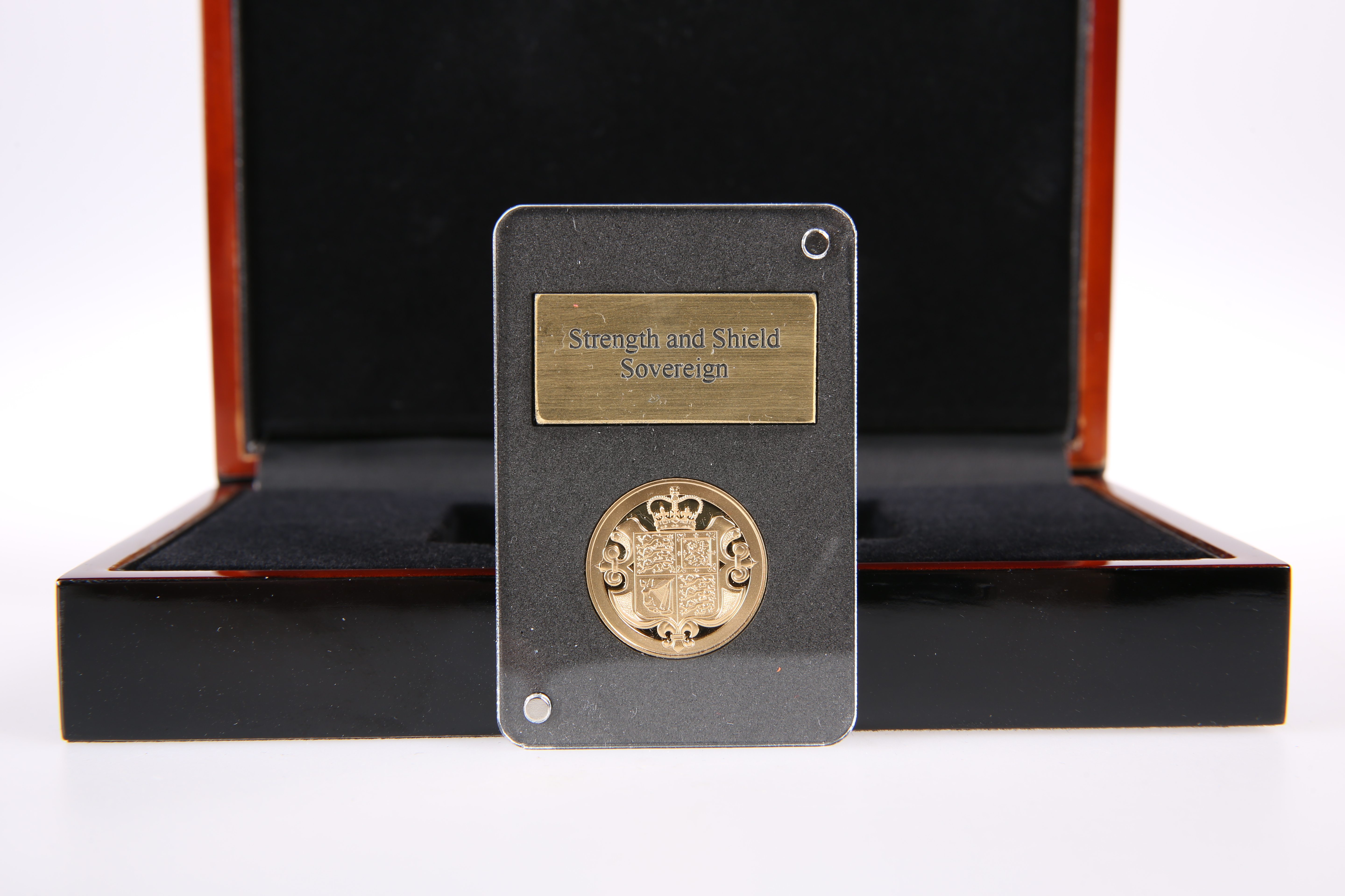 A 2017 STRENGTH AND SHIELD SOVEREIGN, in capsule, within a presentation box and outer card box.