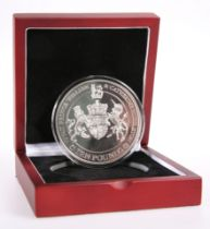"""A LONDON MINT 5OZ SILVER TEN POUNDS COIN, """"THE 2011 PRINCE WILLIAM AND CATHERINE MIDDLETON ROYAL"""
