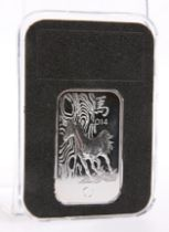A 2014 YEAR OF THE HORSE 1OZ FINE SILVER INGOT