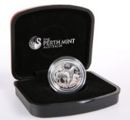 "A PERTH MINT 1OZ SILVER PROOF HIGH RELIEF COIN, ""AUSTRALIAN LUNAR SILVER COIN SERIES II YEAR OF"