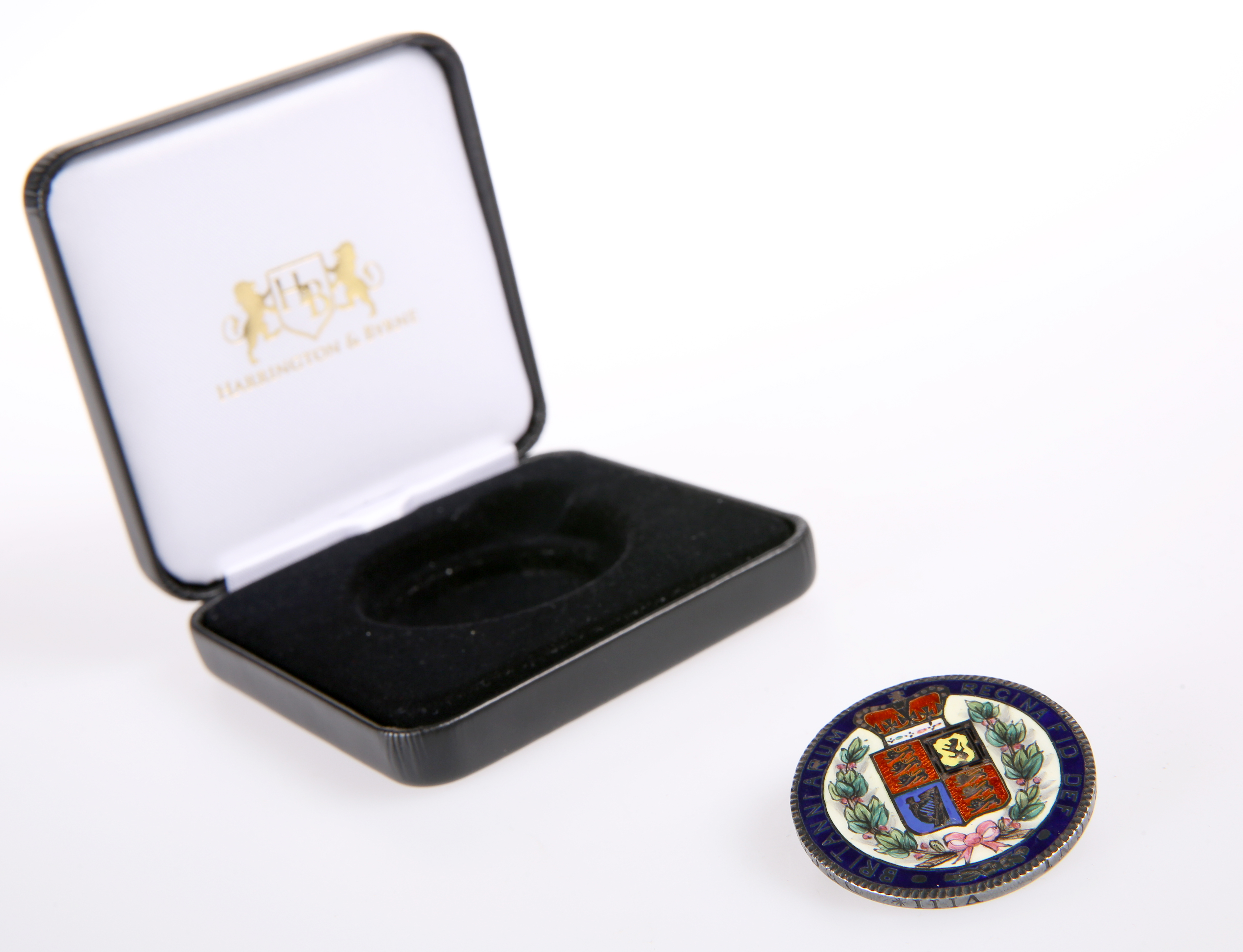 A QUEEN VICTORIA ENAMELLED CROWN, 1844, pin mount (a/f)