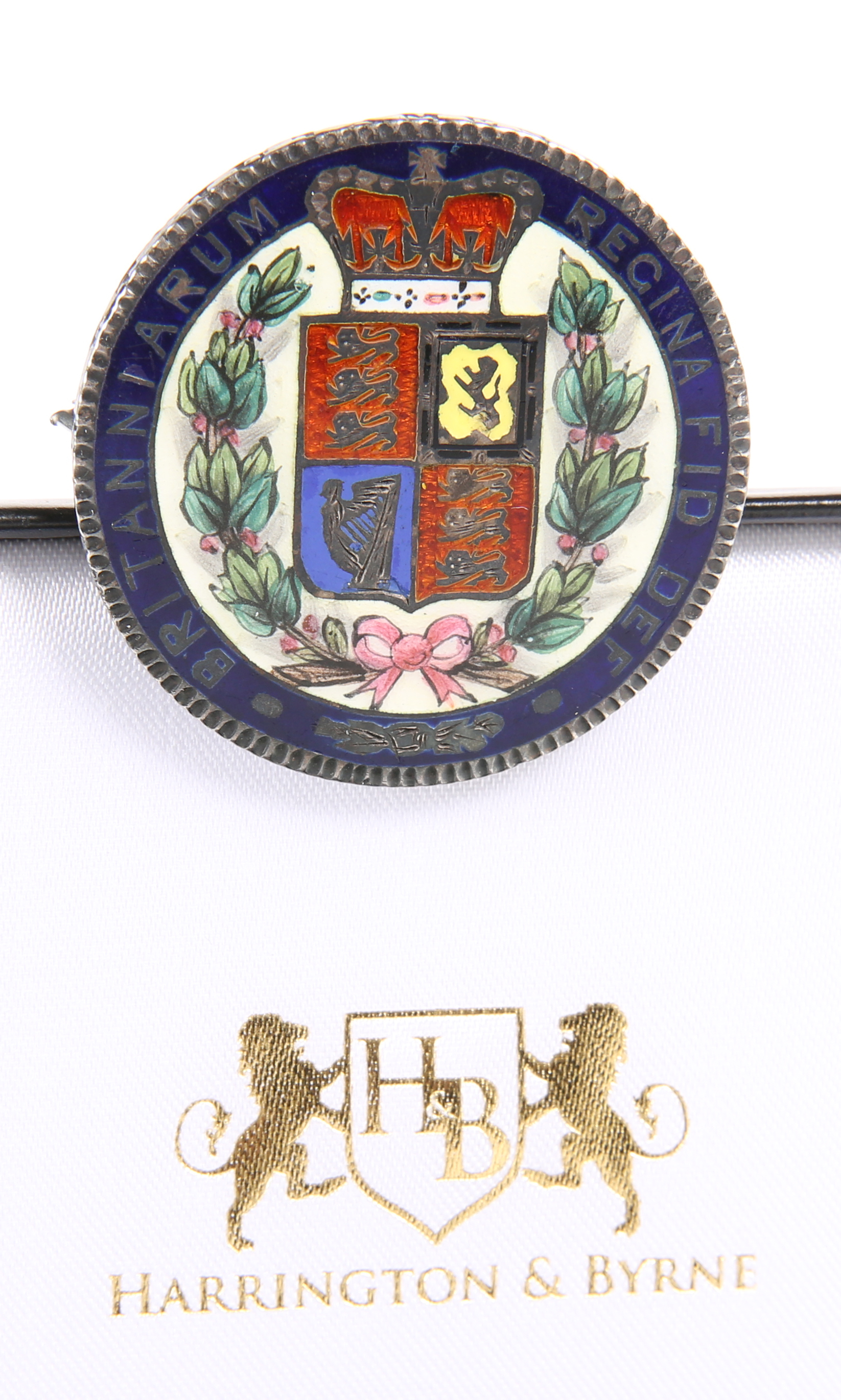 A QUEEN VICTORIA ENAMELLED CROWN, 1844, pin mount (a/f) - Image 2 of 2