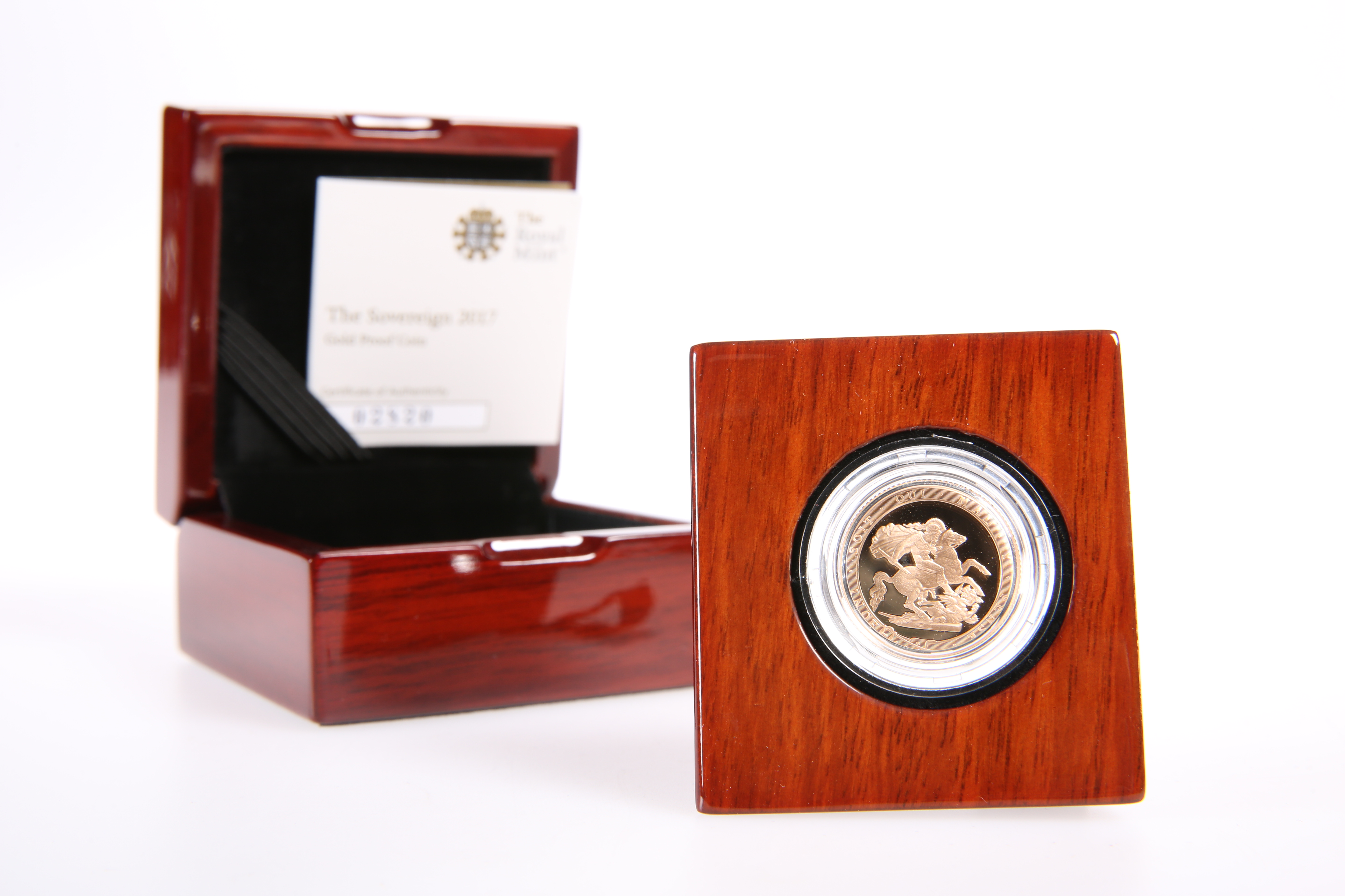 A GOLD PROOF FULL SOVEREIGN, 2017, in Royal Mint box with COA no. 02820