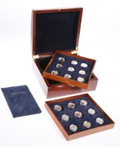 A ROYAL CANADIAN MINT SILVER $20 COLLECTION, each coin with COA, in box with tray trays