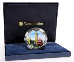 A WESTMINSTER 2012 ELIZABETH TOWER 2OZ SILVER NUMISPROOF, boxed with COA no. 484