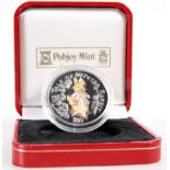 A 2004 PETER RABBIT $10 SILVER COIN, cased.