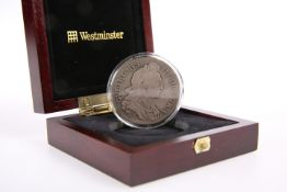 A WILLIAM III SILVER CROWN 1695, boxed with Westminster COA