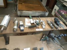 LOT: Pneumatic & Electric Chisels + assorted tools