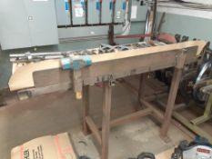 Steel Work Table, c/w PEDDINGHAWS Shear