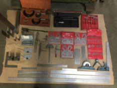 LOT: MITUTOYO & STARRETT assorted Measuring Tools