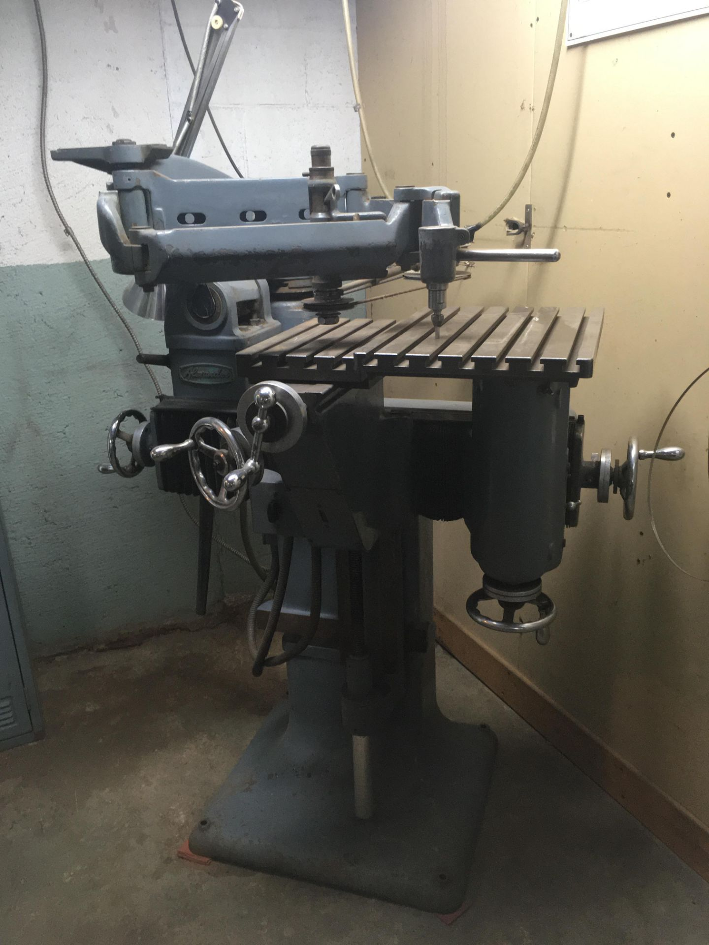 ALEXANDER PENTAGRAPH Machine, mod: 3A, c/w Metal Cabinet & Assorted Parts