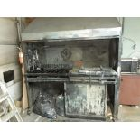 """Paint Booth, 48"""" x 80"""" x 100"""", c/w Exhaust System & Motor"""