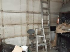LOT: Assorted Ladders & Stool…