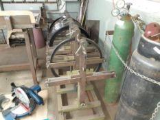9-Station Steel Rule Dispenser, c/w 7 Steel Spools: (Single/Double or Center Edge) (2)19mm x 3mm DE,