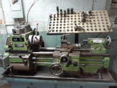 "MS Metal Lathe, 20"" open, mod: SS+23, c/w Wooden Base & Chuck Drills"