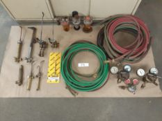 "LOT: Acet-Oxy Hose: 1/2"" x 182 ft, Gas Savers, Pressures Gauges, Regulator, Torches"