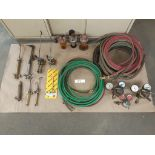 "LOT: Acet-Oxy Hose: 1/2"" x 182 ft, Gas Savers, Pressures Gauges, Regulator, Torches"
