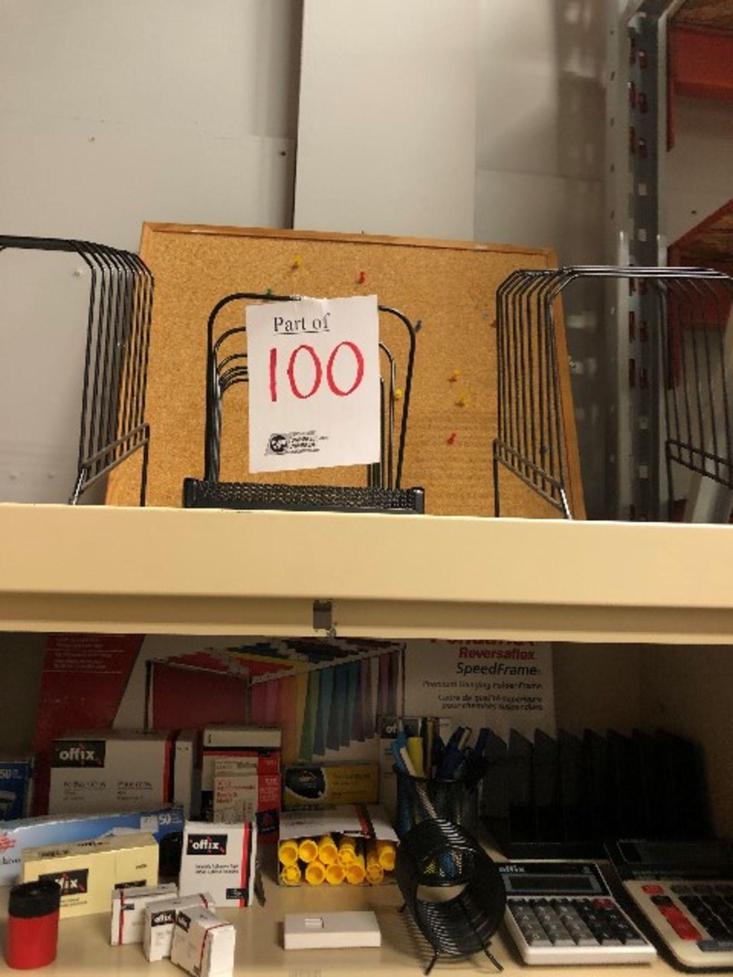Lot 100 - Assorted paper organizers,stationaries,folders,etc... (Lot)