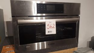 "Bosch HSLP451UC 30"" stainless steel wall steam convection oven"