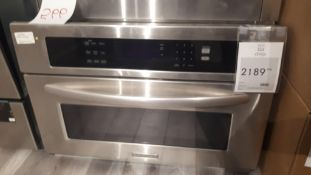 "Kitchen Aid KBHS109SSS 30"" built-in stainless steel convection microwave"