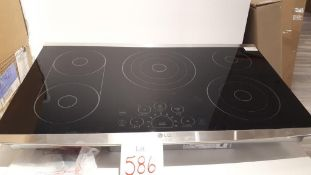 "LG LSCE365ST 36"" stainless steel electric cooktop, showroom demo"