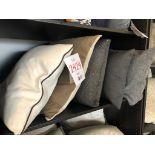 Assorted decorative pillows, 5 pcs