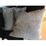 """Decorative Pillows, 20""""x20"""", Dara Grey, 2 pcs"""